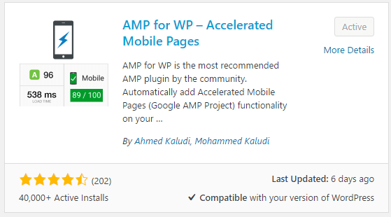 افزونه amp for wp