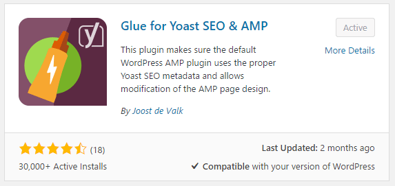 افزونه Glue for Yoast SEO & AMP