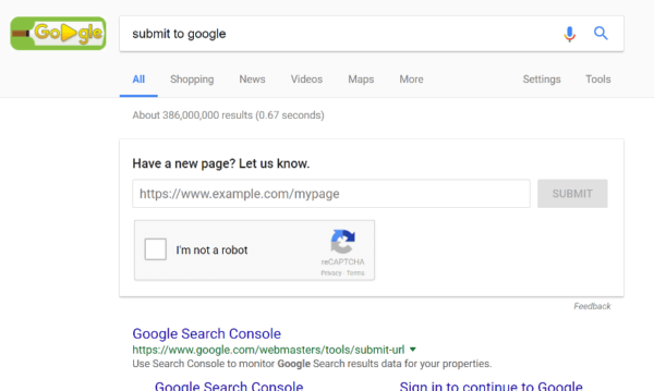 submit to google